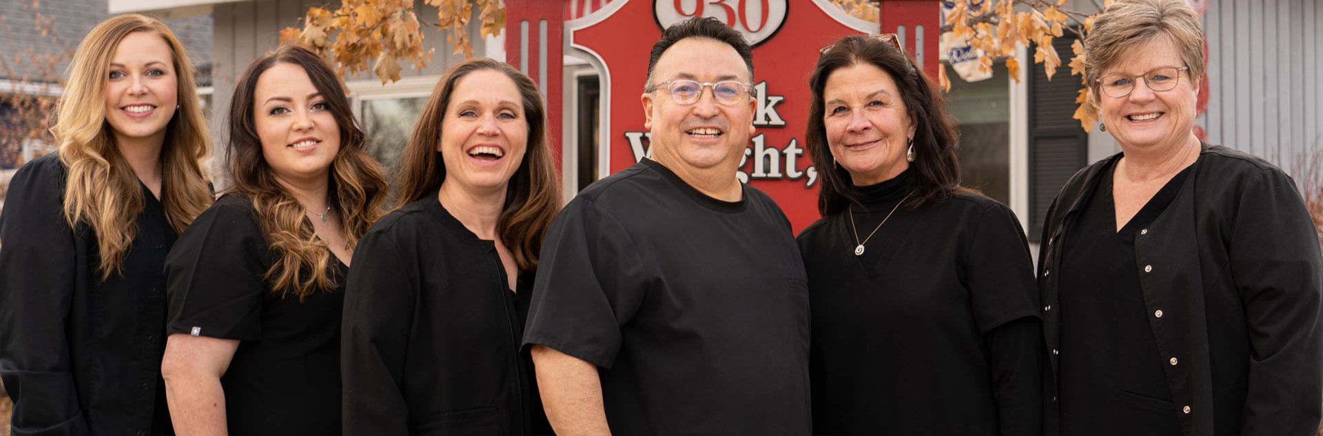 Dr. Mark Wright and his dental team